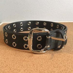 Calvin Klein Black Grommet Belt